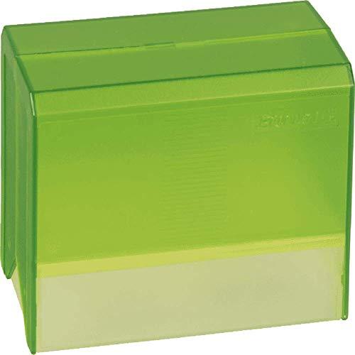 Brunnen 102056152 Karteikasten / Karteibox (Styrolux, A6, für circa 300 Stück) grün