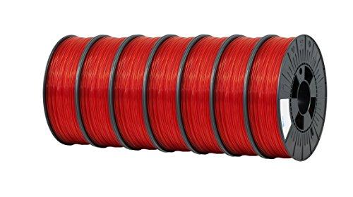 ICE FILAMENTS ICE7VALP111 PET Filament 1,75 mm 0,75 kg Transparent Romantic Red (lot de 7)