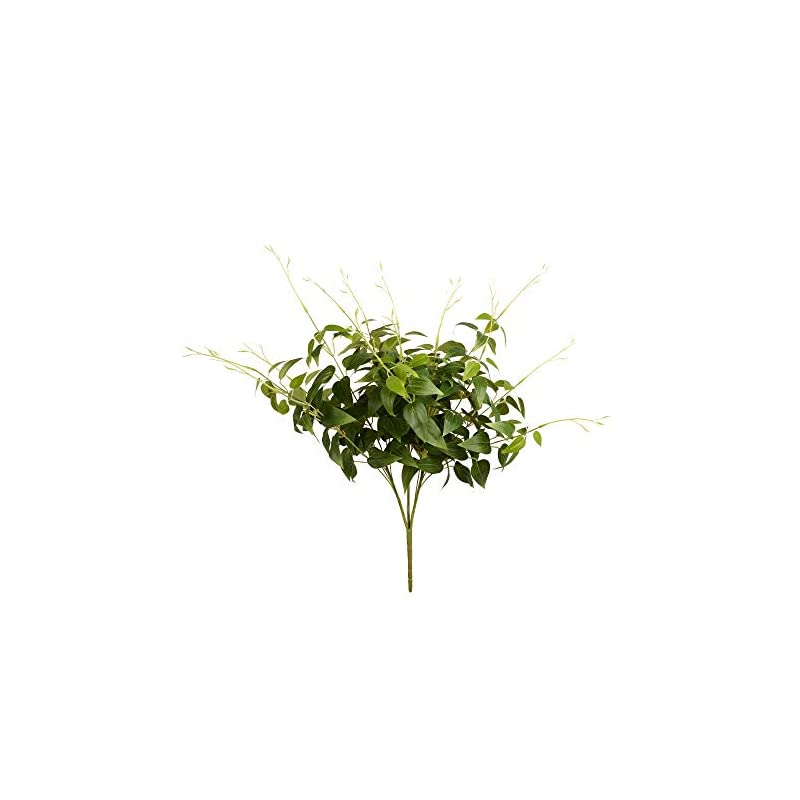"silk flower arrangements vickerman clematis spray green 1 artificial-flowers, 21"", 3 piece"