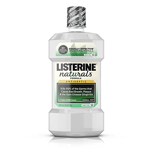 Listerine Naturals Antiseptic Mouthwash, Herbal Mint 16.90 oz (Pack of 2)