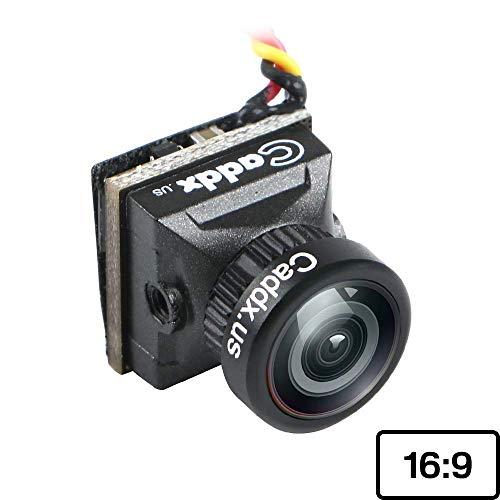 Caddx Turbo EOS2 FPV Cámara 2.1 mm Lente 1200TVL 1/3 CMOS PAL 16:9 FOV 160 Grados IR Blocked Micro Mini cámara Negro para FPV Quadcopter Racing Drone