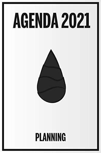 Agenda 2021 Planning: Organisateur Pour tatoueur Noir & Blanc | Calendrier, Planificateur semainier 100 pages| Petit format 15,2 cm*22,9 cm | L'indispensable pour un Tatoueur