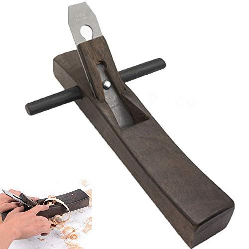 YAOBAO Carpintería Bricolaje Mini Bloque de Madera, cepilladora de Mano Plana, lijadora Manual sólida, Hoja de Acero Fundido (35 * 6 * 4.5cm), Negro, 1 Piezas