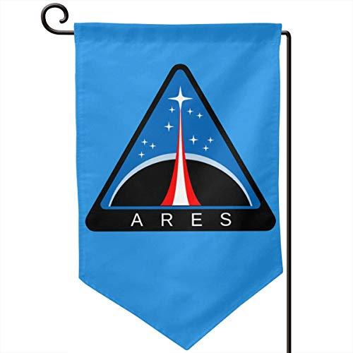 Bandera de jardín de la NASA de la misión de Ares, decoración navideña, bandera de doble cara, 12.5 x 18.0 in