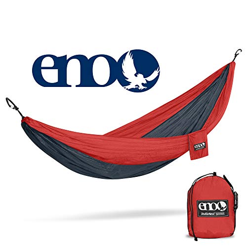 ENO - Eagles Nest Outfitters DoubleNest Hammock, Portable Hammock for Two, Red/Charcoal (FFP)