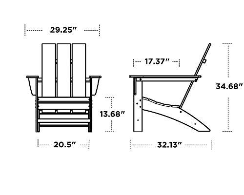 POLYWOOD AD420GY Modern Adirondack Chair, Slate Grey