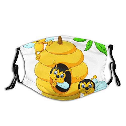 LUBATAGA Ramo di albero con alveare e api miele divertente insetto mascotte laboriosa Filtro...