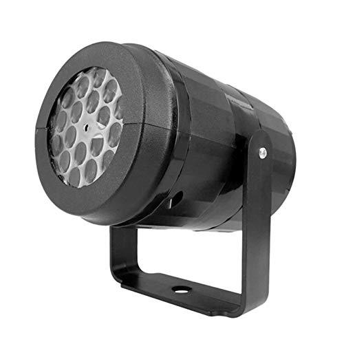 Luz De DJ 240V 5W 4 LED 12 Patrones Lámpara De Proyector De Luz De Punto Giratoria Mini Para Bar Music Party Concert (Size:Small; Color:UK)