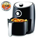 Nutrichef Air Fryer Oven 2 Quart - 1000w Power Oilless Dry Fryer Machine Large...