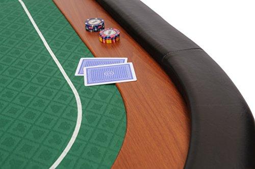 Riverboat Gaming Champion faltbare Pokerauflage mit grünem wasserabweisenden Stoff und Tasche – Pokertisch 180cm - 3