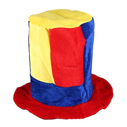 Amosfun gorro de payaso gorro de fiesta de circo gorro de payaso de actuación escénica para suministros de fiesta de festival de carnaval (estilo 1)