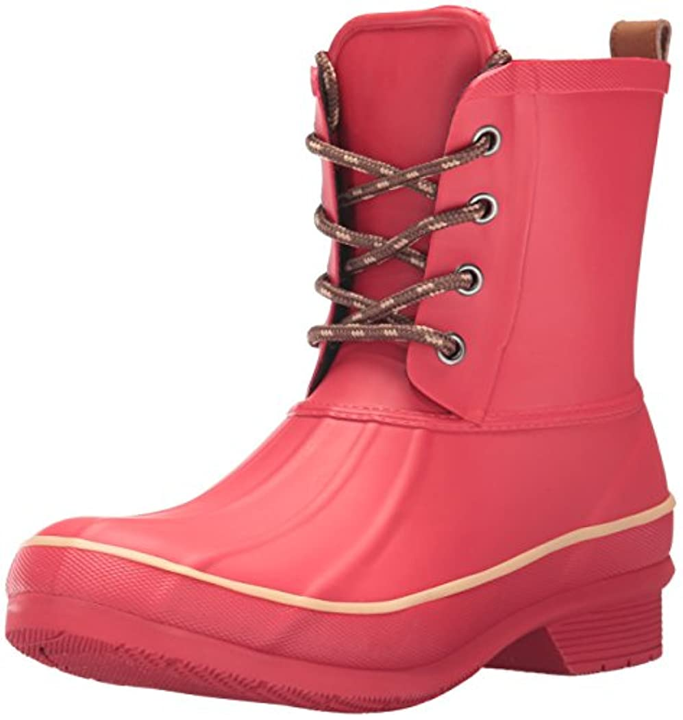 Chooka Women's Classic Memory Foam Rain Duck, Red, 7 M US