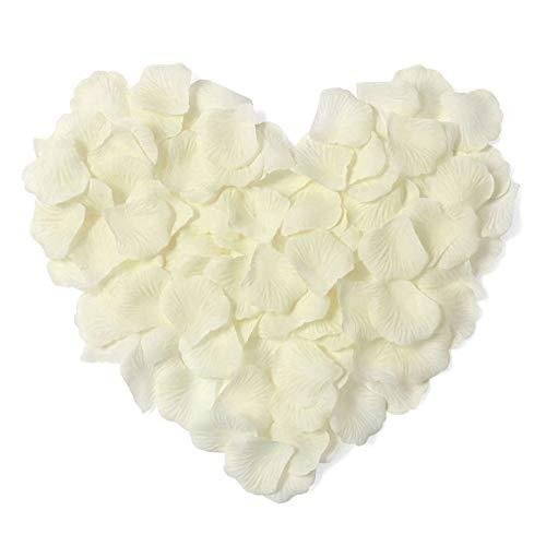 Ablest 1000 Pcs Wedding Bridal Shower Decoration Artificial Silk Flower Petals, Ivory