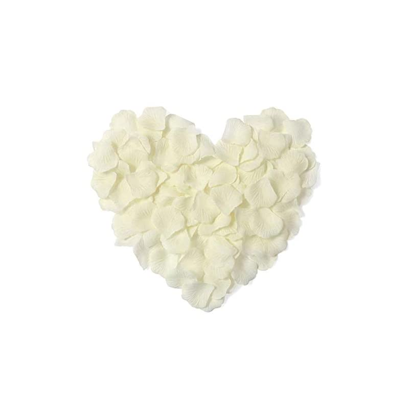 silk flower arrangements young 1000 pieces artificial flower rose petals for wedding confetti girl bridal shower hotel home party valentine day flower decoration, ivory