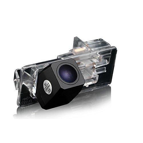 Navinio Rückfahrkamera verbesserte Einparkhilfe Nachtsicht Wasserdicht (schwarz) für Auto Dacia Lodgy/Fluence/Duster Megane/Latitude/Scenic 2/ Laguna 2/3 X91/ Captur/Clio 4 (Model 8312=81x32mm)