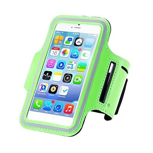LIOOBO Handy Arm Gürtel Sets Handy Arm Tasche Band Paket Outdoor Sports Laufausrüstung Aufbewahrungstasche (grün)