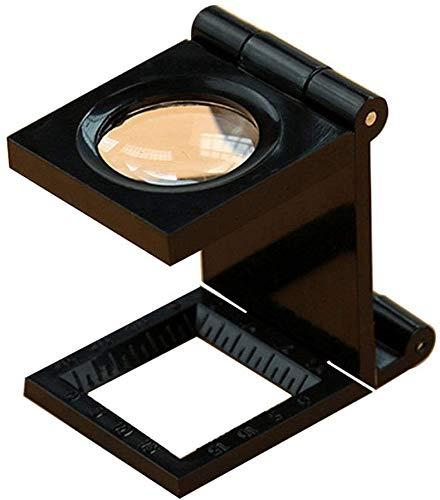 EIIDJFF Lupa con luz led Lupa de Vidrio con Escala 20x Magnifier Hogar para niños Antiguos