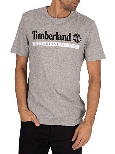 Timberlande los Hombres Camiseta Establecida en 1973, Gris, XL