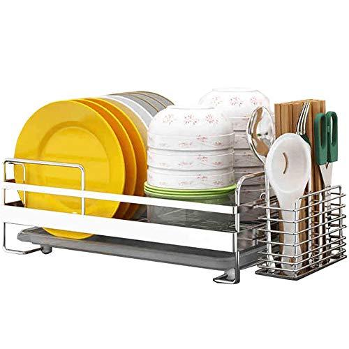JXTBFQ Cesta de Acero Inoxidable para Cubiertos/Rejilla de Drenaje para Cuencos de Cocina/Secadora de lavavajillas con Rejilla de Drenaje para Vaciado Adicional de la Cocina (40 x 26 x 14 cm)