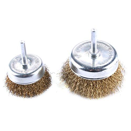 UKCOCO Cepillo de copa de alambre con cerdas de acero prensadas de...