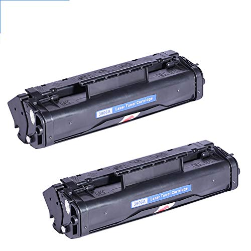 Cartucho de tóner C3906F 06A Compatible con HP Laserjet 06F 5L 6L 6PSE XL 3100 3150 Impresora Negro con Chip 2500 páginas-2Pack