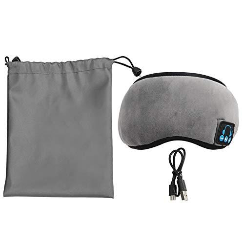 Keenso Benda per Cuffie, Benda Bluetooth Cuffia incorporata Musica Wireless Occhioli per Dormire Lavabili(Gray)