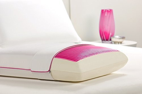Comfort Revolution FROSTED PINK WAVES 200-0A Hydraluxe Cooling Gel Bed Pillow by Comfort Revolution
