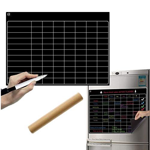 Sunfauo Pizarra Magnetica Nevera Pizarra Nevera Comida planificador Calendario magnético para Nevera Palo en Pizarra Pizarra magnética Nevera 21-1