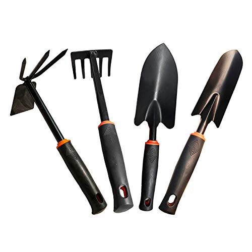 4 Pieces Garden Weeding Tools Planting Flowers Transplanting Shovel Loose Soil Rooter Multi-Function Fertilization Hoe Children Potted Rake