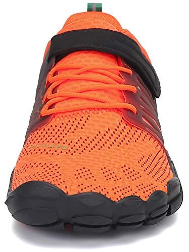 SAGUARO Barfußschuhe Herren Zehenschuhe Outdoor Traillaufschuhe Männer Straßenlaufschue Five Finger Schuhe St.2 Orange 44 - 3