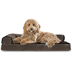 PERFECT FOR CUDDLING: The Furhaven L-Chaise Pet Dog Bed features a dual-bolster L-shaped design that allows your pup to sleep in a variety of positions, while providing plenty of cushioned headrest space and the perfect nook for burrowing into. SLEEP...
