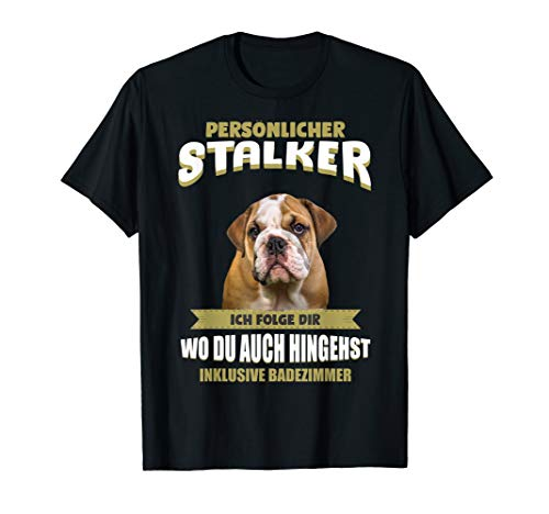 Old English Bulldog Tshirt - Englische Bulldogge Hund Shirt T-Shirt