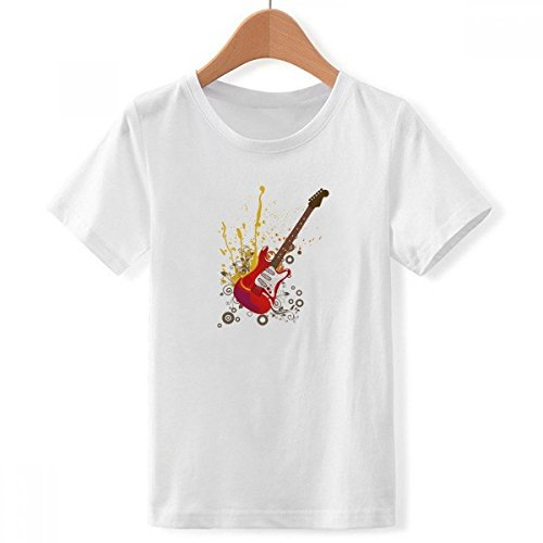 DIYthinker Guitarra eléctrica de Jazz Cultura Musical Cuello Redondo Camiseta para Chico...
