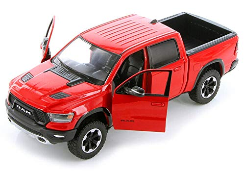 2019 RAM 1500 Rebel Crew Cab Pickup Truck Red 1/24 Diecast Model Car by Motormax 79358