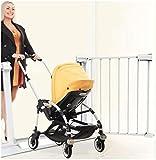 Barrera de Seguridad de Niños para Puertas y Escal De metal ajustable mascotas bebé compuerta de seguridad de puerta de la escalera de cierre automático con la presión del montaje expansible se coloca