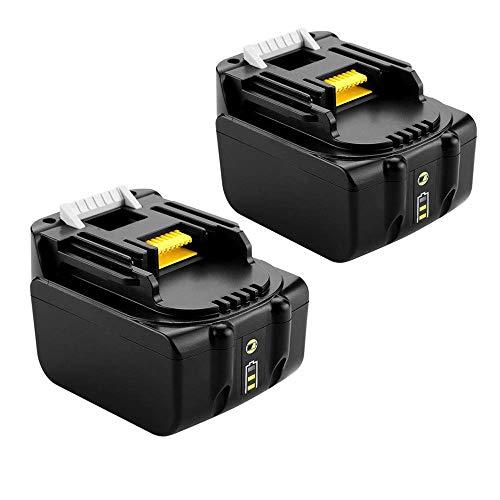 2 Stück BL1430 Ersatzakku für Makita 14.4V 4.0Ah Li-ion Akku Kompatibel mit Makita BL1430 BL1415 BL1440 BL1415N 196875-4 194558-0 195444-8 196388-5 mit LED Indikator
