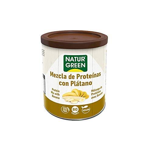NaturGreen Mix di proteine in polvere con banana, confezione da 2 pezzi da 250 g