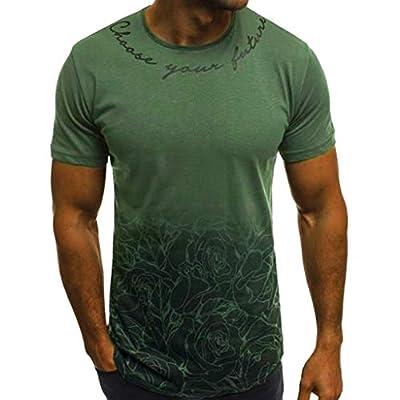 Winsummer Tee Tops Men's Sportstyle Gradient Short Sleeve T-Shirt Crewneck Muscle Premium Tshirt