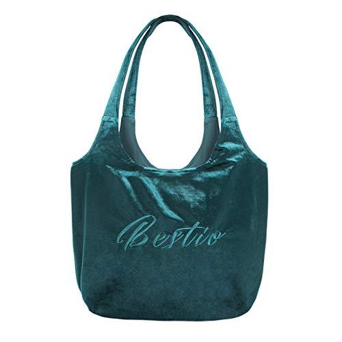 QMZ Diseño ligero y lujoso bordado de terciopelo un hombro bolso de mujer bolso de mano bolso de compras bolso ecológico bolso de mamá bolso perezoso