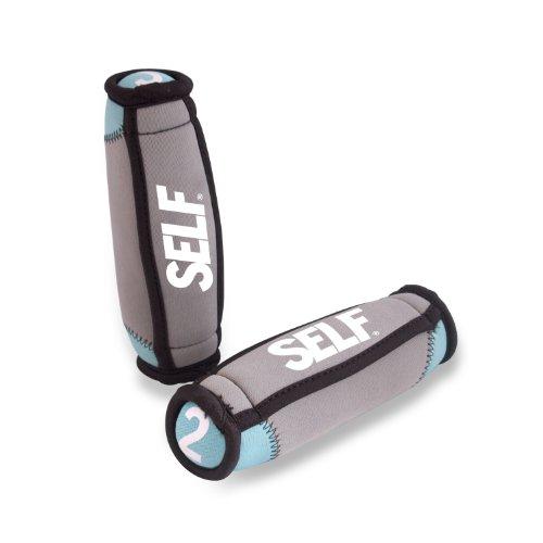 SELF Soft Hand Weights, 4-Pound, Blue/Black