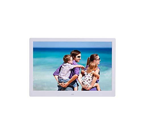 Hahaiyu 15,4 Pulgadas Marcos de Fotos Digital (1280 * 800 de resolución) Reproductor de LCD, Publicidad Estante Reproductor de Arranque automáticamente Soporte 1080P HD Video
