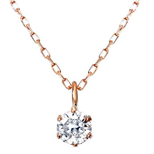 『[ベルセポーネ] Velsepone ネックレス K18 ピンクゴールド ダイヤモンド 0.1ct SIクラス Hカラー n7979b-pg』のトップ画像