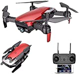 GAOFQ Drone con cámara GPS Plegable FPV Drone con cámara HD Video en Vivo para Principiantes, RC Quadcopter con GPS Return Home, Sígueme, Control de Gestos, Circle Fly, Auto Hover y Transmisión WiFi