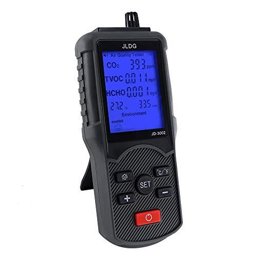 Probador de calidad del aire Monitor Detector de formaldehído de dióxido de carbono CO2 HCHO TVOC Detector de calidad del aire para el interior del hogar