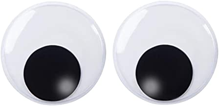 DECORA 7.5 Inch Giant Googly Eyes Plastic Wiggle Eyes with Self Adhesive for Chritsmas Tree Party Decorations 2 Pieces
