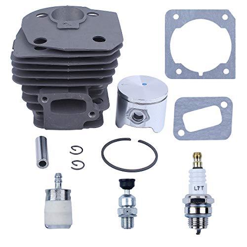 Haishine 44mm Zylinder-Kolbenbolzen-Ringsatz für Husqvarna 350 351 353 346 Jonsered CS 2150 2149 2152 2153 Kettensäge Nikasilbeschichtete Teile