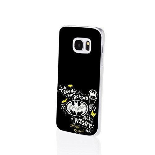 Finoo | Samsung Galaxy S7 Edge Hard Case Handy-Hülle Batman Motiv | dünne stoßfeste Schutz-Cover Tasche mit lizensiertem Muster | Premium Case für Dein iPhone| Ready for Action