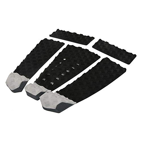 OCEANBROAD 5 Pieces Surfboard Traction Pad with 3M Adhesive Professional Tail Pad with Arch and Kicker for Short Board Long Board