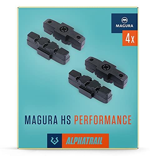 Alphatrail Bremsbeläge - Magura HS 2 Paar 50mm I Hohe Bremskraft im Alltag I Langlebiger Bremsbelag & 100% Passgenau für alle verfügbaren Magura HS Bremsen wie Magura HS11 HS22 HS33 UVM