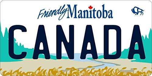 Inga Manitoba Canada Foto Nummernschild 15,2 x 30,5 cm